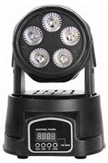 5pcs RGBWA+UV 6 in 1 LED mini Moving Head light TSL-002