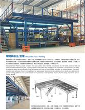 钢平台货架结构图