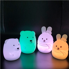 Indoor usb rechargeable kids night light