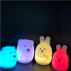 Factory price kids silicone led night light