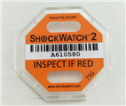 进口二代75G橙色防震标签Shockwatch标贴