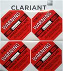 全英文DAMAGE X50G红色防震标签