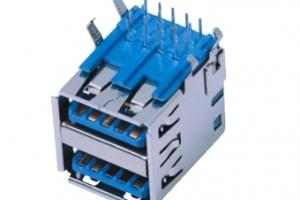 USB01-270   3.0AF90度双层短体