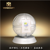 WB-171031樹脂足球個性獎杯深圳市文博工藝制品有限公司定制