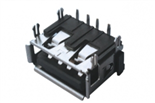 USB01-424  AF90度有边短体四脚插