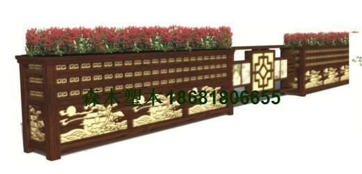 陕西咸阳渭南宝鸡铝合金花箱、仿木塑木花箱马槽隔离街道白色花箱