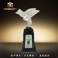 WB-171083本年度熱點高的水晶飛鳥獎杯,成長獎杯,成績獎杯深圳市文博工藝制品有限公司定制