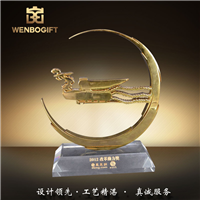 WB-171108改革動力獎杯,鳳凰獎杯,國際獎杯深圳市文博工藝制品有限公司定制
