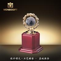 WB-171147水晶地球儀獎杯,地球環保獎杯,深圳市文博工藝制品有限公司定制