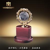 WB-171148水晶地球儀獎杯,地球環保獎杯,深圳市文博工藝制品有限公司定制