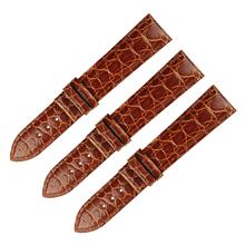 厂家直销真皮表带蝴蝶扣双按弹扣圆纹鳄鱼皮表带 三和兴表带