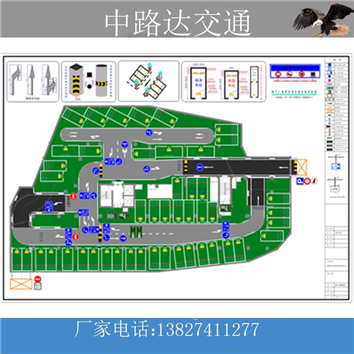 停车场设计平面图CAD图纸十年老师傅绘图