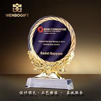 WB-171199水晶獎杯,樹脂麥穗獎杯,深圳市文博工藝制品有限公司定制