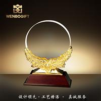 WB-171200水晶獎杯,樹脂麥穗獎杯,深圳市文博工藝制品有限公司定制