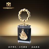 WB-171201經濟開發區紀念性獎杯,水晶獎杯,樹脂圓圈獎杯,深圳市文博工藝制品有限公司定制