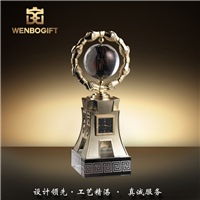 WB-171203水晶球獎杯,紀念意義獎杯,自定義主題定制獎杯,合作共贏獎杯,深圳市文博工藝制品有限公司定制