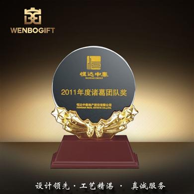 WB-171197團隊獎杯,水晶獎杯,樹脂麥穗獎杯,深圳市文博工藝制品有限公司定制