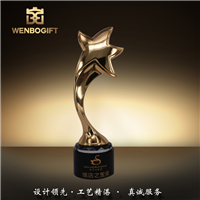 WB-171244五星優秀獎杯 最高領導獎杯 個人突出獎杯深圳文博工藝制品有限公司定制