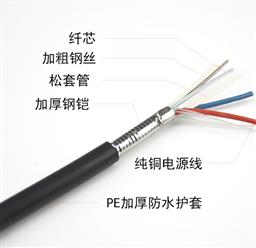 直埋光缆4芯GYTA53铠装光缆价格