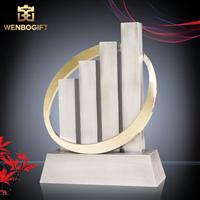 WB-JS1922有序建設最佳獎杯 建設合作伙伴最佳獎杯 未來可持續發展獎杯深圳文博工藝制品有限公司定制
