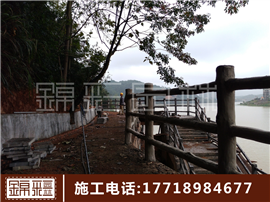 水泥假山施工 假山假樹大門制作仿木欄桿花架仿木橋施工