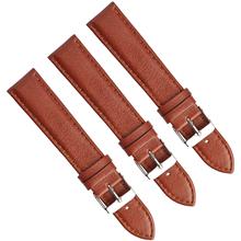 尖尾针纹真皮表带头层真皮手表带