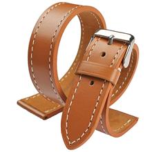 厂家直销复古男士商务休闲头层牛皮真皮手表带