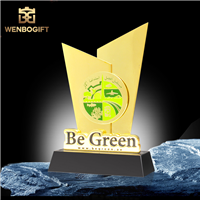 WB-JS1923養殖合作獎杯 各項業務合作獎杯 共同維護綠色環保獎杯深圳文博工藝制品有限公司定制