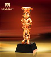 WB-JS1955動畫界最佳獎杯,動物協會獎杯,自定義主題定制獎杯,深圳市文博工藝制品有限公司
