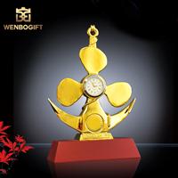WB-JS1956時鐘合金獎杯,獨特設計時鐘獎杯,自定義主題定制獎杯,深圳市文博工藝制品有限公司定制