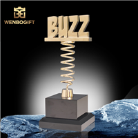 WB-JS1978獨特設計獎杯可定制獎杯,合金獎杯,自定義主題定制獎杯,深圳市文博工藝制品有限公司定制