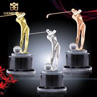 WB-JS19118高爾夫球獎杯,高爾夫球人物獎杯,人物合金獎杯,深圳市文博工藝制品有限公司定制