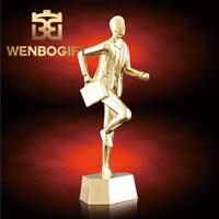 WB-JS19119業務最佳人員獎杯,業績最佳獎杯,合金人物獎杯,深圳市文博工藝制品有限公司定制