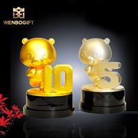 WB-JS19129小金豬獎杯,動畫片最佳制作獎杯,動畫玩具商家最佳銷售獎杯,深圳市文博工藝制品有限公司定制