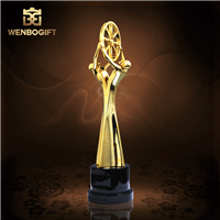 WB-JS19137公司獎杯,合作獎杯,人物合金獎杯,深圳市文博工藝制品有限公司定制,