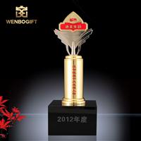 WB-JS19160先進十大人物獎杯,公司年度獎杯,自定義主題定制獎杯,深圳市文博工藝制品有限公司定制