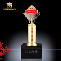 WB-JS19160先进十大人物奖杯,公司年度奖杯,自定义主题定制奖杯,深圳市文博工艺制品有限公司定制