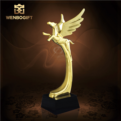 WB-JS19155飛馬合金獎杯,象征性獎杯,紀念性獎杯,深圳市文博工藝制品有限公司定制