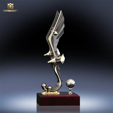 WB-JS19159動物合金獎杯,象征性獎杯,可定制獎杯,深圳市文博工藝制品有限公司定制