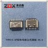 TYPC-C 6P短�w母座立式插板 H5.0