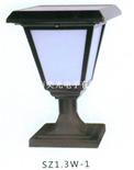 新型1.3W中大功率SZ1.3W-2太陽能LED柱頭燈