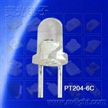 PT204-6C插件3mm圓頭白色透明本體的接收管