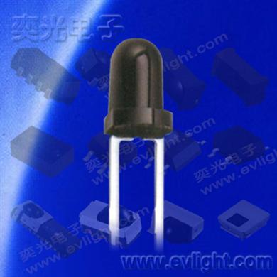 PT204-6B插件3mm圓頭黑色本體的紅外接收管