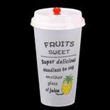 500ml菠萝磨砂杯带盖