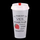500ml草莓磨砂杯带盖