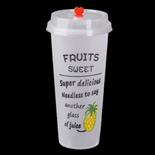 700ml菠萝磨砂杯带盖
