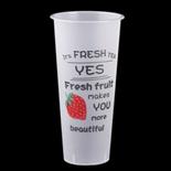 700ml草莓磨砂杯