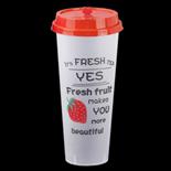 700ml草莓磨砂杯带盖