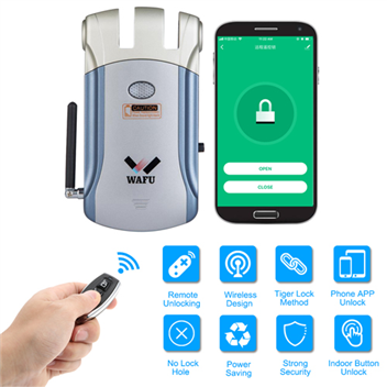 WAFU WIFI Remote Control Invisible Security Door Lock for Home, Hotel, Office(WF-008W)
