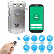 WAFU Smart Invisible WIFI Remote Control Security Door Lock with 315Mhz (WF-018W)